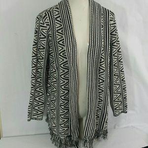 Style & Co Petite Open Fringed Cardigan